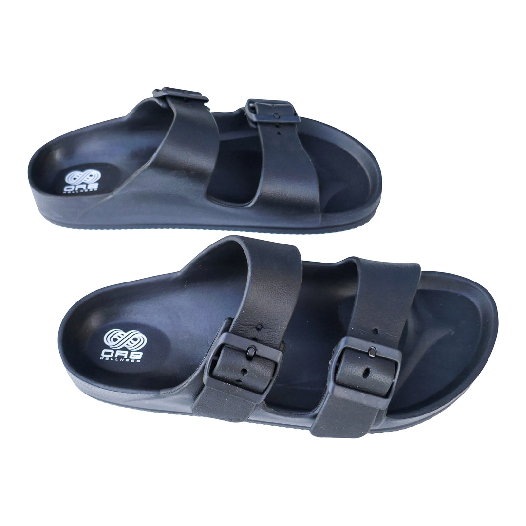 LADIES' ORTHOTIC BEACH SANDAL WITH ARCH SUPPORT (BLACK)